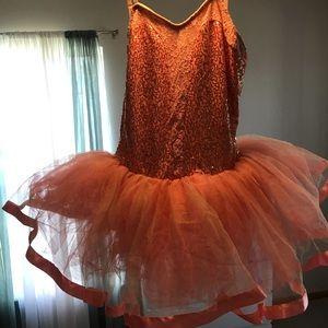 Peach dance costume - tutu